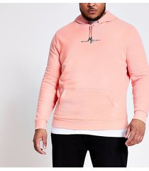 river island mens big and tall maison riviera coral hoodie