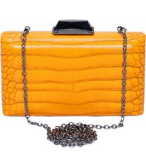 clutch croco - laranja