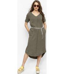 sukienka z muślinu nel oliwkowa