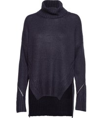 sola ladder knits roll nck jmp turtleneck coltrui blauw french connection