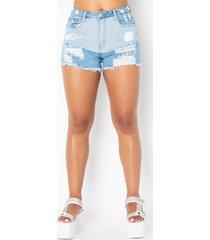 akira sasha high waisted denim shorts