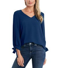 cece v-neck tie-sleeve top