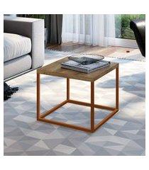 mesa lateral industrial artesano cube pequena vermont e cobre