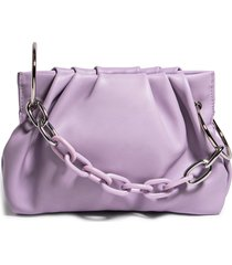 house of want chill vegan leather frame clutch - purple