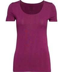 shirt 1/2 top lila schiesser