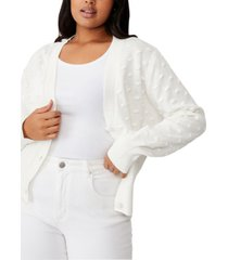 cotton on trendy plus size knobbly cardi sweater