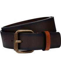 men's ted baker london kammden leather belt, size 34 - chocolate