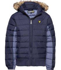 light weight colour block jacket fodrad jacka blå lyle & scott junior