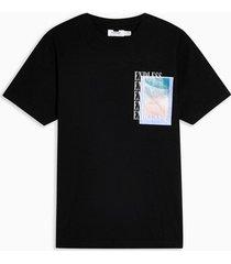 mens black endless print t-shirt