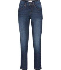 jeans cropped elasticizzati comfort straight (blu) - john baner jeanswear