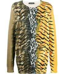 safari print sweater yellow