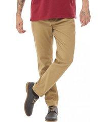 pantalon bolsillos slim marron corona