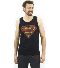 regata masculina superman emporio alex malha preto - preto - masculino - dafiti