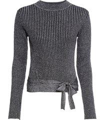 maglione incrociato con lurex (nero) - bodyflirt boutique