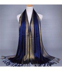 donna sciarpa in pashmina scialle in cotone morbido con frange