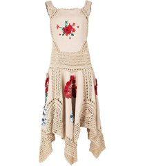 crochet linen handkerchief dress