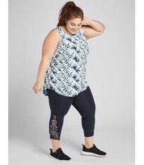 lane bryant women's livi capri power legging - crochet hem 18/20 night sky