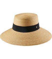 helen kaminski wide brim raffia hat in natural/black at nordstrom