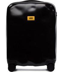 crash baggage icon cabin suitcase - black