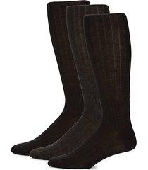 3-pack texture stripe crew socks