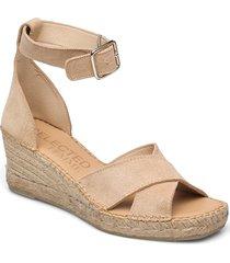 slfesther wedge suede espadrilles b sandalette med klack espadrilles brun selected femme