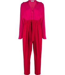 equipment zephrina two-tone jumpsuit - red