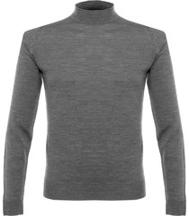 john smedley harcourt moc turtle charcoal wool pullover p16