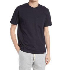 men's norse projects johannes pocket t-shirt, size xx-large - blue