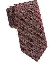 diamond embroidery silk tie