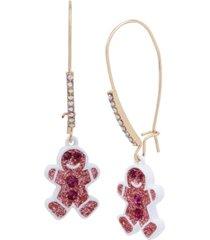 betsey johnson festive gingerbread dangle earrings