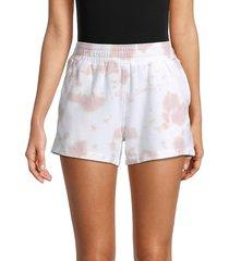 monrow women's ex-boyfriend tie-dye shorts - blush - size xs