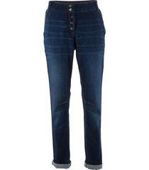 jeans elasticizzato boyfriend con cinta a costine (blu) - bpc bonprix collection