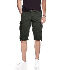 men's belted capri cargo shorts