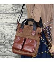 borsa a tracolla in pelle scamosciata donna vintage crossbody borsa