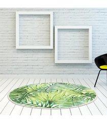 hoja verde selva tropical 60cm ronda de alfombras alfombras salón área de yoga inicio alfombra del piso - 80cm