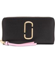 marc jacobs zip-up wallet - gold