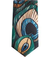 dolce & gabbana peacock graphic-print tie - green