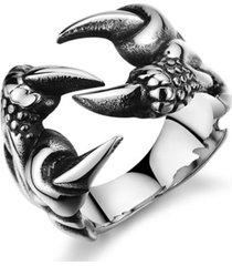 anillo punk retro gotico hombre ajustable ff042 garra
