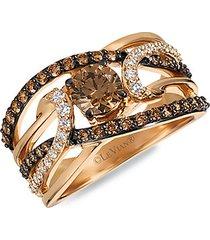 chocolatier® 14k strawberry gold® chocolate diamonds® & vanilla diamonds® ring