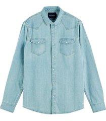 denim overhemd lichtblauw