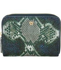 women's kelly wynne money maker leather zip wallet - green