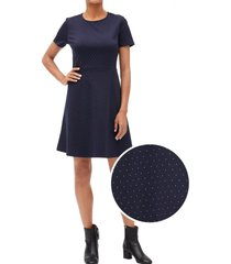 vestido flare azul gap