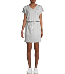 tommy hilfiger sport women's drawstring blouson dress - grey - size m