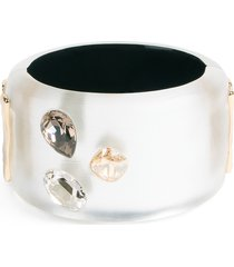 women's alexis bittar future antiquity triple stone lucite cuff bracelet