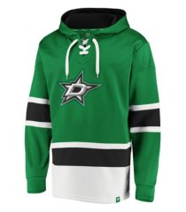 majestic dallas stars men's power play lace up hoodie
