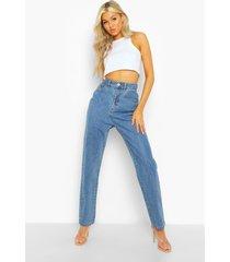 tall klassieke high rise mom jeans, mid blue