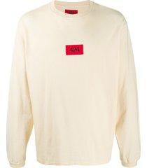 424 logo-embroidered sweatshirt - neutrals
