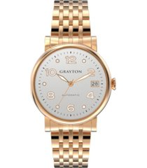 grayton women's classic collection rose gold tone stainless steel bracelet 36mm