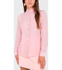 blusa io camisera rosa - calce holgado