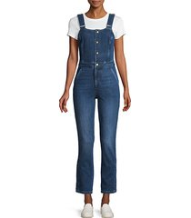 button-front denim jumpsuit